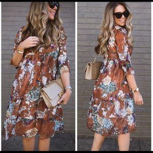 NWT ANTHROPOLOGIE Hemant & Nandita Midi Dress